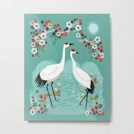 Cranes by Andrea Lauren Metal Print