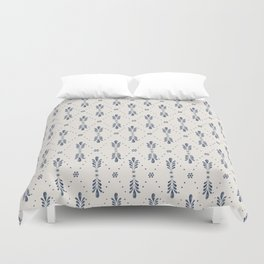 Indigo Meadow Duvet Cover