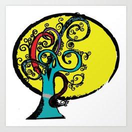 Swirl Tree Art Print