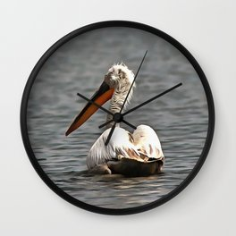 The Sea Breeze Blows The Pelican Where He Wants To Go Wall Clock
