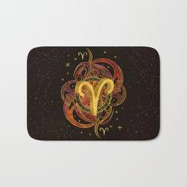 Aries Zodiac Sign Fire element Bath Mat