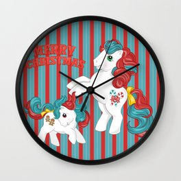 g1 my little pony merry christmas Wall Clock