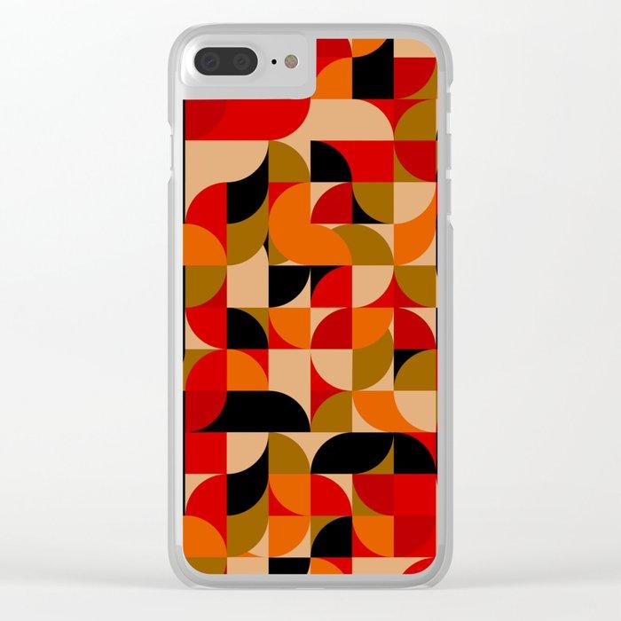 vector Design Deco, rustic colors. Clear iPhone Case