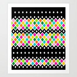DIAMOND - Black Art Print