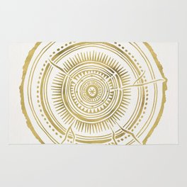 Quaking Aspen – Gold Tree Rings Rug