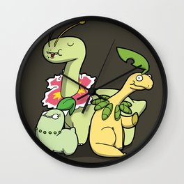Pokémon - Number 152, 153 & 154 Wall Clock