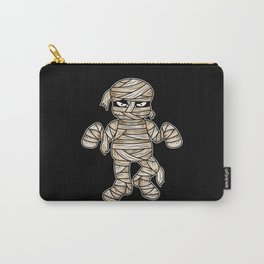 Scary Halloween Mummy Cartoon Illustration Carry-All Pouch