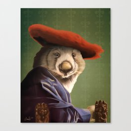 Wombat with a Red Hat Canvas Print