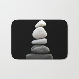 balance pebble art Bath Mat