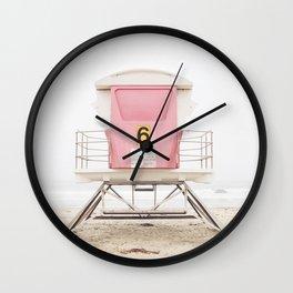 Pink Tower 6 Wall Clock