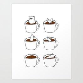 More Coffee Chihuahua Art Print