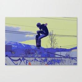 Getting Air - Skateboarder Canvas Print