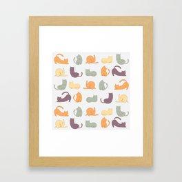 Cat day Framed Art Print