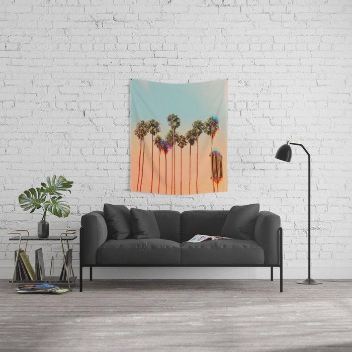 Glitch beach Wall Tapestry