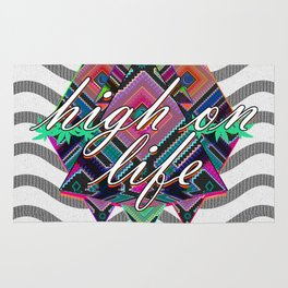 High on Life & Festival Vibes Tribal Pattern Rug