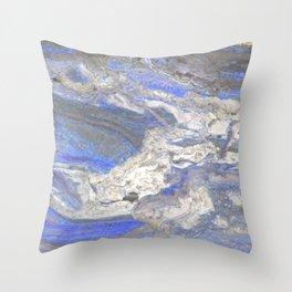 Arabescato-Orobico-Blue-Marble Throw Pillow