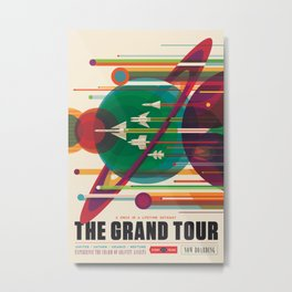 NASA Retro Space Travel Poster #5 Metal Print