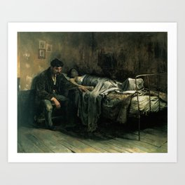 The Misery,  Cristóbal Rojas Poleo, 1886 Art Print