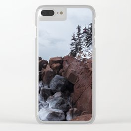 Bass Harbor Lighthouse in the Winter Clear iPhone Case