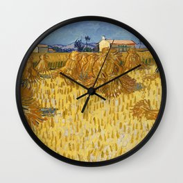 Van Gogh - Corn Harvest in Provence, 1888 Wall Clock