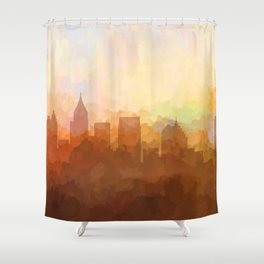 Atlanta, Georgia Skyline - In the Clouds Shower Curtain