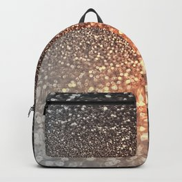 Tortilla brown Glitter effect - Sparkle and Glamour Backpack