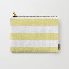 Khaki (X11) (Light khaki) - solid color - white stripes pattern Carry-All Pouch