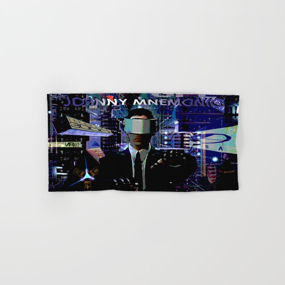 Johnny Mnemonic Hand Towel by Rockyrock BTL1786525