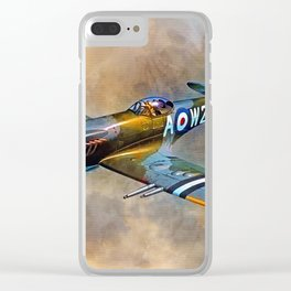 Spitfire Dawn Flight Clear iPhone Case