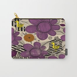 Floral Whimsical Bohemian Print Carry-All Pouch