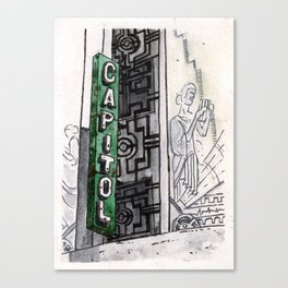 Philippines : Capitol Theater Canvas Print