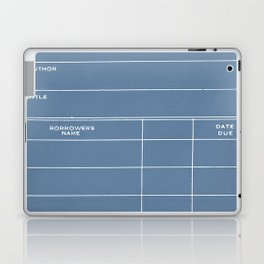Library Card BSS 28 Negative Blue Laptop & iPad Skin