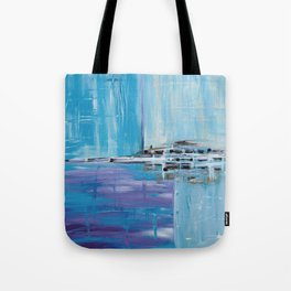 Light Blue Abstract Tote Bag