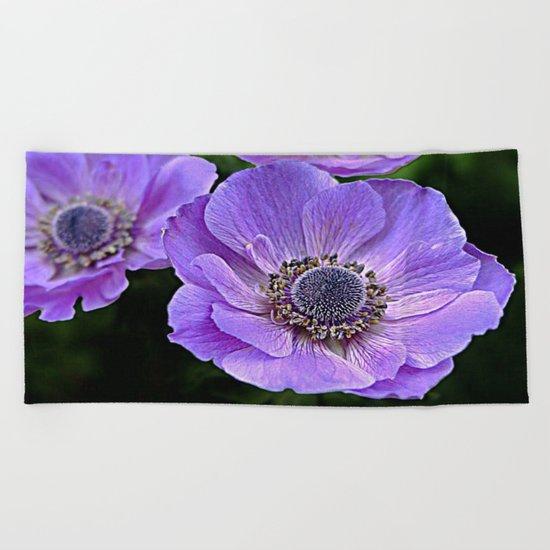 Remembrance Purple Poppy Flower Beach Towel By Daddydan Society6