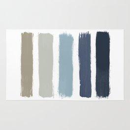 Blue & Taupe Stripes Rug