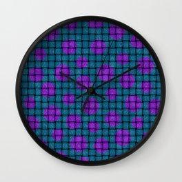 BASKET WEAVE PATTERN 1 Wall Clock