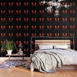 Butterfly - Vibrant Glow - Orange Brown Yellow Black Wallpaper