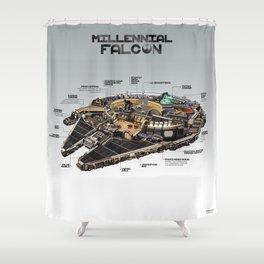 Millennial Falcon Shower Curtain