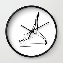 Pilates pose8 Wall Clock