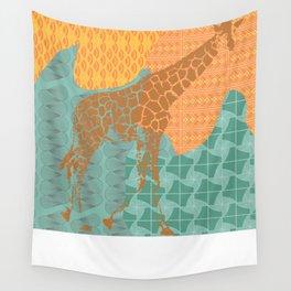 Gentle Giraffe  Wall Tapestry