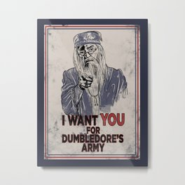 Uncle Dumbledore Metal Print