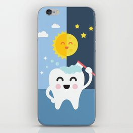 Brush your Teeth Morning and Night iPhone Skin