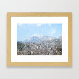 Snow-capped Mountains Framed Art Print