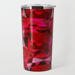 RUBY RED JULY GEM BIRTHSTONE  ART Travel Mug