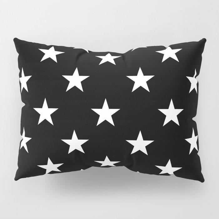 Stars (White/Black) Pillow Sham
