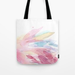 Pink Flamingo Soft Feathers Pastel Watercolor Texture Tote Bag