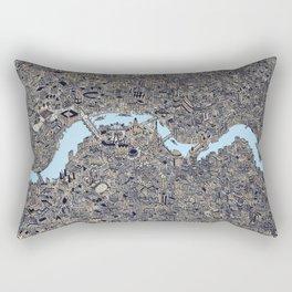 London color map city drawing illustration Thames Rectangular Pillow