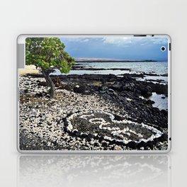 "Hawaii Black Sand Beach & Coral ""Love"" Heart Digital Photo Laptop & iPad Skin"