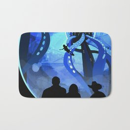 Europa Space Travel Retro Art Bath Mat