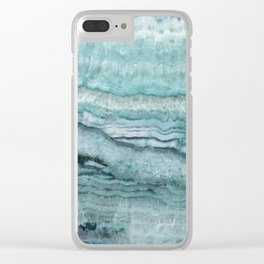 Mystic Stone Aqua Teal Clear iPhone Case
